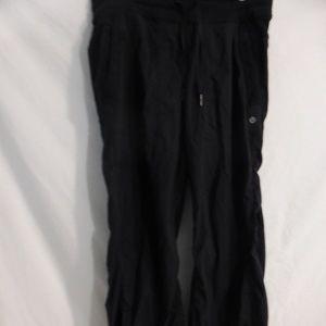 LULULEMON long black exercise pants, pull string